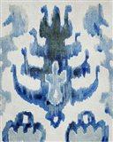 Sapphire Ikat IV Art Print