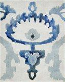 Sapphire Ikat VI Art Print