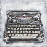 Vintage Typewriter I Art Print