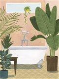 Bathtub Oasis I Art Print