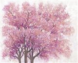 Pink Cherry Blossom Tree I Art Print