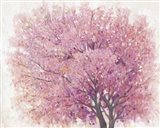 Pink Cherry Blossom Tree II Art Print