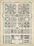 Antique Garden Design IV Art Print