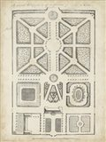 Antique Garden Design V Art Print