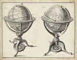 Antique Terrestrial & Celestial Globes Art Print