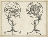 Antique Armillary Spheres Art Print