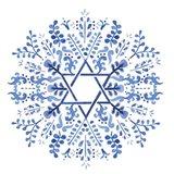 Indigo Hanukkah I Art Print