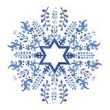 Indigo Hanukkah II Art Print