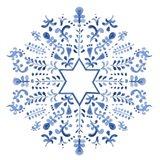 Indigo Hanukkah III Art Print