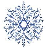 Indigo Hanukkah IV Art Print
