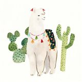 Sweet Alpaca I Art Print