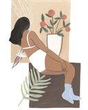 Lying Woman III Art Print