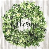 Welcome Wreath II Art Print