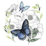 Butterfly Floral II Art Print