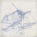 Airplane Mechanical Sketch I Art Print