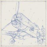 Airplane Mechanical Sketch II Art Print