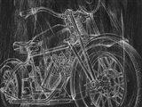 Motorcycle Mechanical Sketch I Art Print