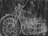 Motorcycle Mechanical Sketch II Art Print