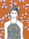 Pink Blossom Lady II Art Print