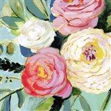 Brushy Floral II Art Print