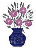 Painted Vase IV Art Print