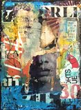 Collage Head Art Print