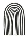 Arcobaleno Nero II Art Print