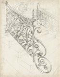 Iron Railing Design I Art Print