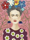 Frida Floral I Art Print