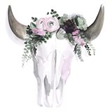 Bohemian Horns I Art Print