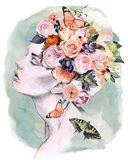 Floral Locks I Art Print