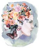 Floral Locks II Art Print