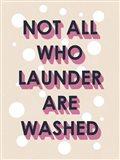 Laundry Typography I Art Print