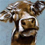 Cow Kisses I Art Print