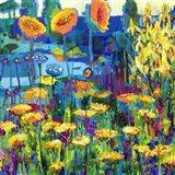 Yellow Garden I Art Print
