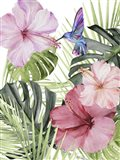 Hibiscus & Hummingbird I Art Print