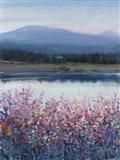 Lakeside Mountain I Art Print
