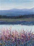 Lakeside Mountain II Art Print