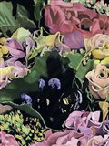 Floral on Black IV Art Print