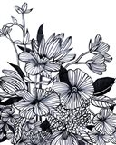 Wildflower Tangle I Art Print