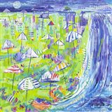 Coastal Fun Collage I Art Print