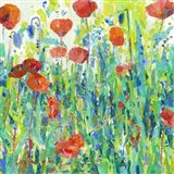 Stately Red Poppies III Art Print