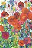 Vivid Poppy Collage I Art Print