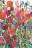 Vivid Poppy Collage II Art Print
