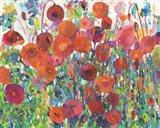 Vivid Poppy Collage III Art Print