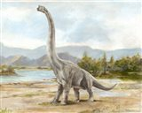 Dinosaur Illustration IV Art Print