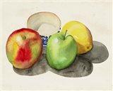 Still Life with Apples & Lemon II Art Print