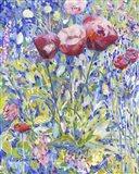 Three Poppies in Garden Art Print