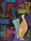 Abstract Expressionist Flowers I Art Print