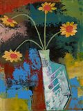 Abstract Expressionist Flowers III Art Print